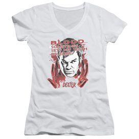 Dexter Blood Junior V Neck T-Shirt