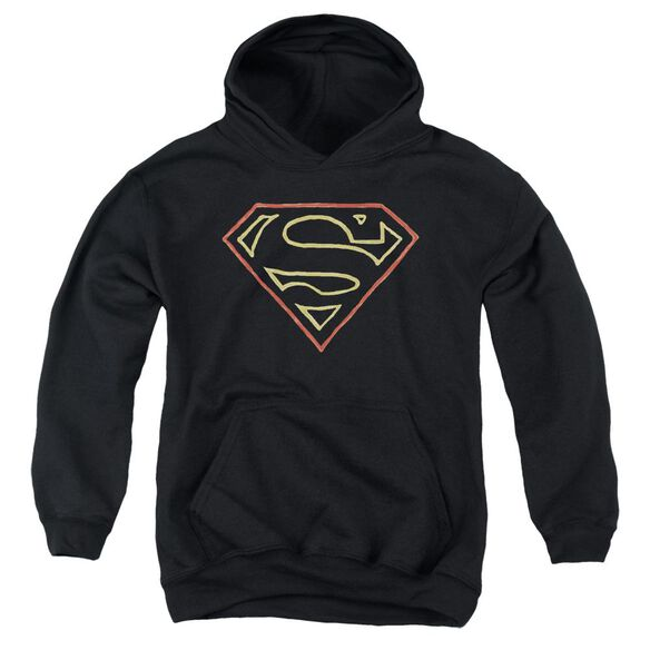 Superman Colored Shield Youth Pull Over Hoodie