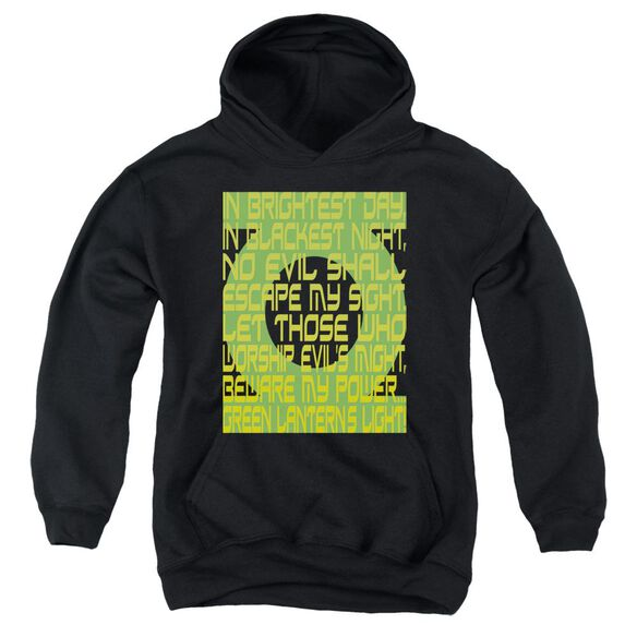 Green Lantern Green Lantern Oath Youth Pull Over Hoodie