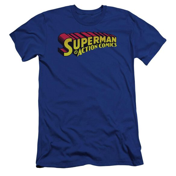 Superman Superman In Premuim Canvas Adult Slim Fit Royal
