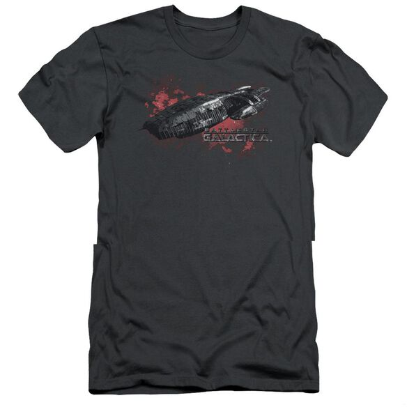 BSG GALACTICA - S/S ADULT 30/1 - CHARCOAL T-Shirt