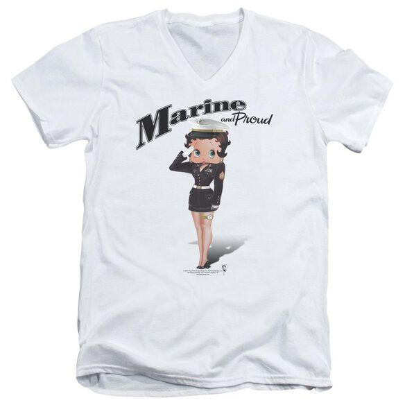 Betty Boop Marine Boop Short Sleeve Adult V Neck T-Shirt