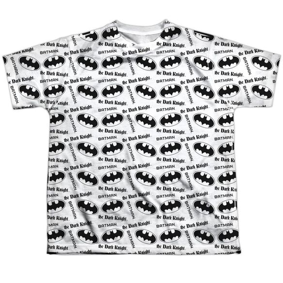 Batman Repeat Dark Knight Short Sleeve Youth Poly Crew T-Shirt