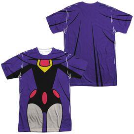 Teen Titans Go Raven Uniform (Front Back Print) Short Sleeve Adult Poly Crew T-Shirt
