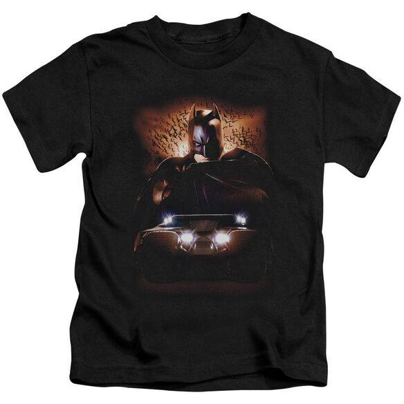 Batman Begins Batman & Tumbler Short Sleeve Juvenile Black T-Shirt
