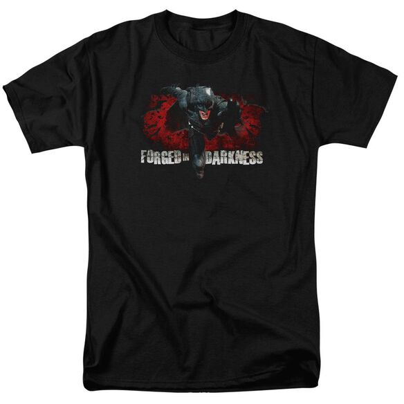Dark Knight Rises Forged In Darkness Short Sleeve Adult Black T-Shirt