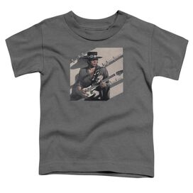 Stevie Ray Vaughan Texas Flood Short Sleeve Toddler Tee Charcoal T-Shirt