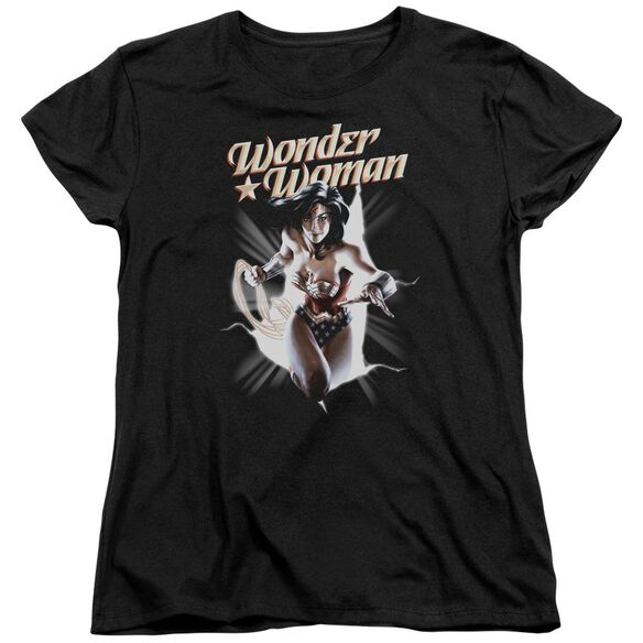 Jla Ww Break Out Short Sleeve Womens Tee T-Shirt