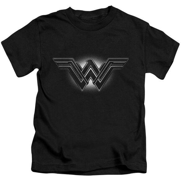Batman V Superman Glow Emblem Short Sleeve Juvenile Black T-Shirt