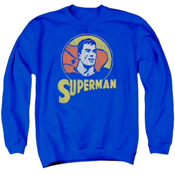 Dc Super Circle Adult Crewneck Sweatshirt Royal