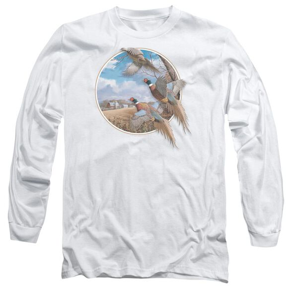 Wildlife October Memories Pheasants Long Sleeve Adult T-Shirt