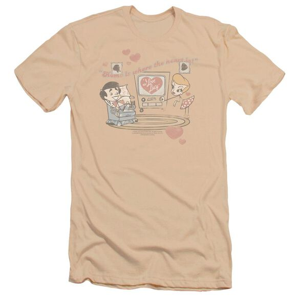 I Love Lucy Home Is Where The Heart Is Premuim Canvas Adult Slim Fit