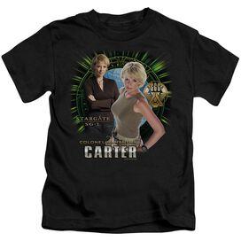 Sg1 Samantha Carter Short Sleeve Juvenile Black T-Shirt