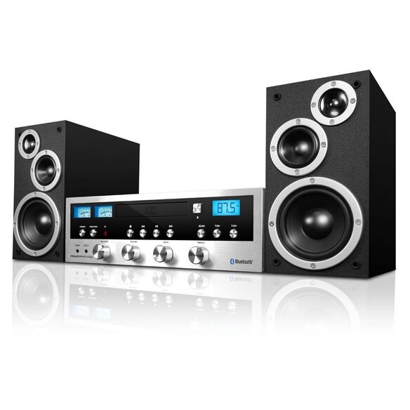 Innovative Technology 50 Watt Classic CD Stereo with Bluetooth