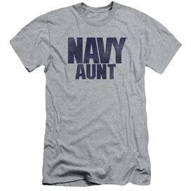 Navy Aunt Short Sleeve Adult Athletic T-Shirt