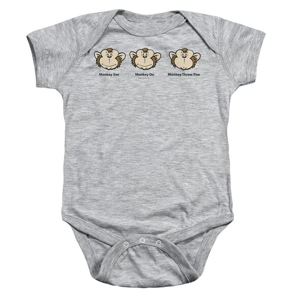 Monkey See... Infant Snapsuit Athletic Heather Xl