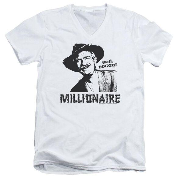 BEVERLY HILLBILLIES MILLIONAIRE - S/S ADULT V-NECK - WHITE T-Shirt