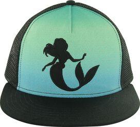 Little Mermaid Ariel Silhouette Snap Hat