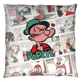 Popeye Panels Throw Pillow