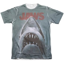 JAWS POSTER - ADULT 65/35 POLY/COTTON S/S TEE - WHITE T-Shirt