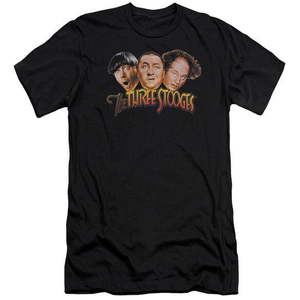 Three Stooges Three Head Logo Premuim Canvas Adult Slim Fit