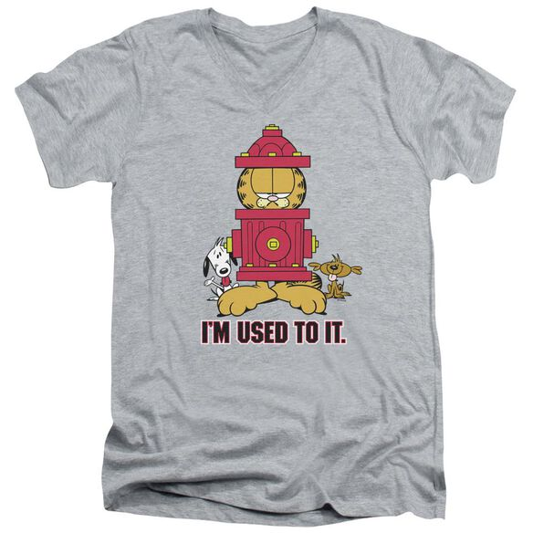 GARFIELD IM USED TO IT - S/S ADULT V-NECK - ATHLETIC HEATHER T-Shirt