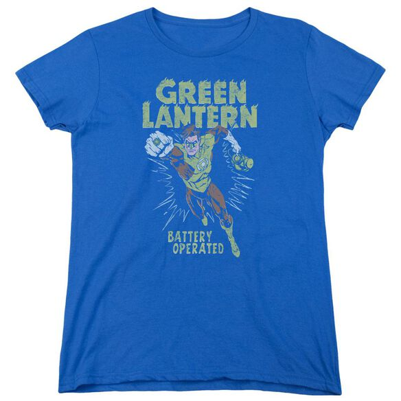 Green Lantern Fully Charged Short Sleeve Womens Tee Royal T-Shirt
