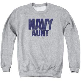 Navy Aunt Adult Crewneck Sweatshirt Athletic