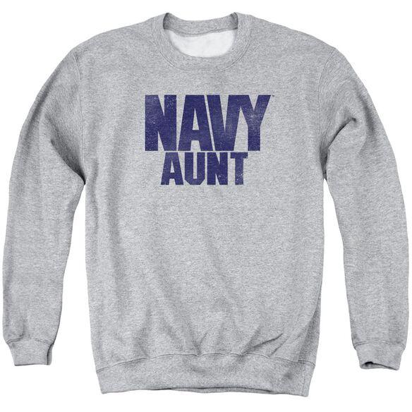 Navy Aunt Adult Crewneck Sweatshirt Athletic