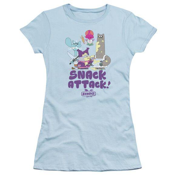 Chowder Snack Attack Short Sleeve Junior Sheer Light T-Shirt