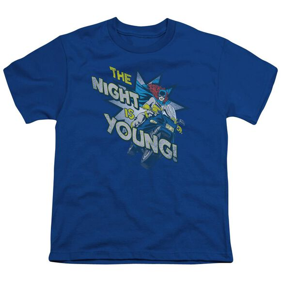 Dc The Night Is Young Short Sleeve Youth Royal T-Shirt