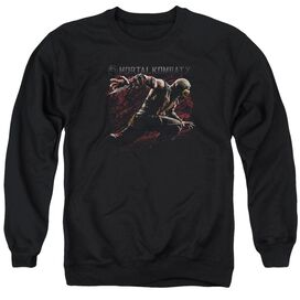 Mortal Kombat X Scorpion Lunge - Adult Crewneck Sweatshirt - Black