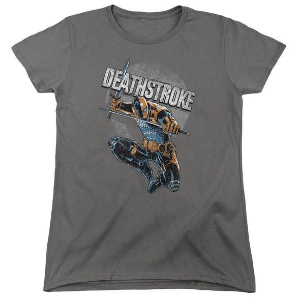 Jla Deathstroke Retro Short Sleeve Womens Tee T-Shirt