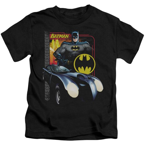 Batman Bat Racing Short Sleeve Juvenile Black Md T-Shirt
