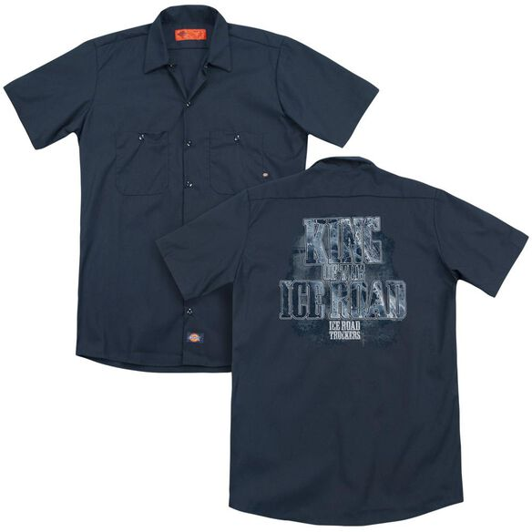 Ice Road Truckers King Of The Ice Road (Back Print) Adult Work Shirt