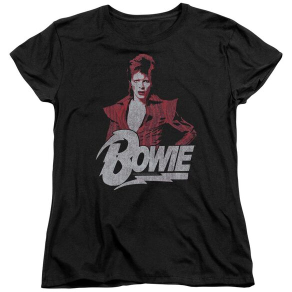 David Bowie Diamond David Short Sleeve Womens Tee T-Shirt