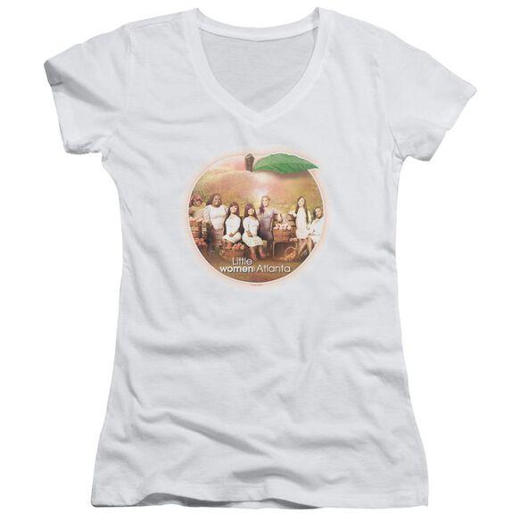 Little Women Atlanta Peach Pie Junior V Neck T-Shirt