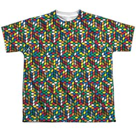 Rubiks Cube Cube Stack Short Sleeve Youth Poly Crew T-Shirt