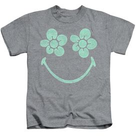 Smiley World Flower Face Short Sleeve Juvenile Athletic T-Shirt