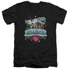 I Love Lucy Hollywood Road Trip Short Sleeve Adult V Neck T-Shirt