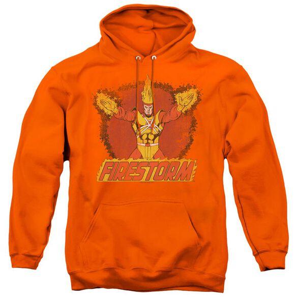 Dc Ring Of Firestorm - Adult Pull-over Hoodie - Orange