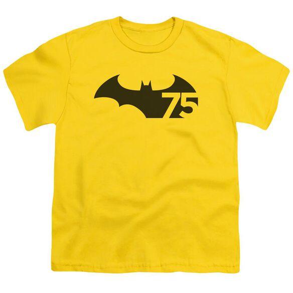 Batman 75 Logo Short Sleeve Youth T-Shirt