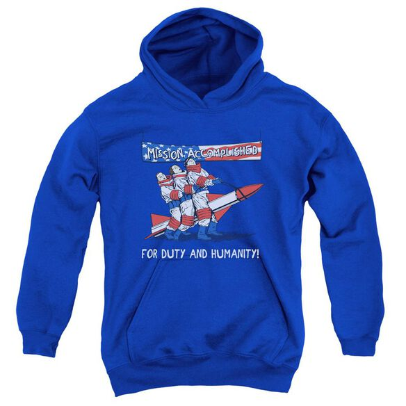 Three Stooges Mission Accomplished Youth Pull Over Hoodie