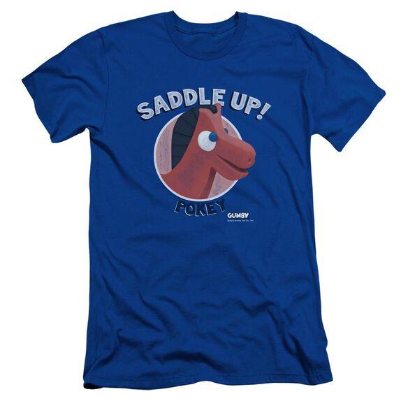 GUMBY SADDLE UP - S/S ADULT 30/1 - ROYAL T-Shirt