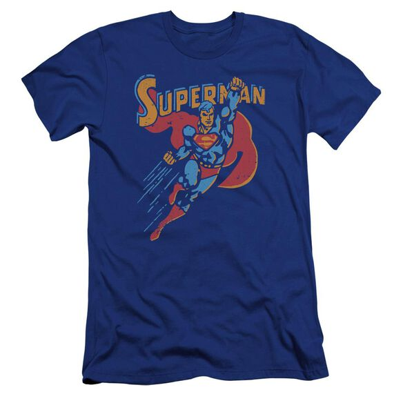 Superman Life Like Action Premuim Canvas Adult Slim Fit Royal