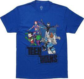 Teen Titans Action Group Vintage T-Shirt