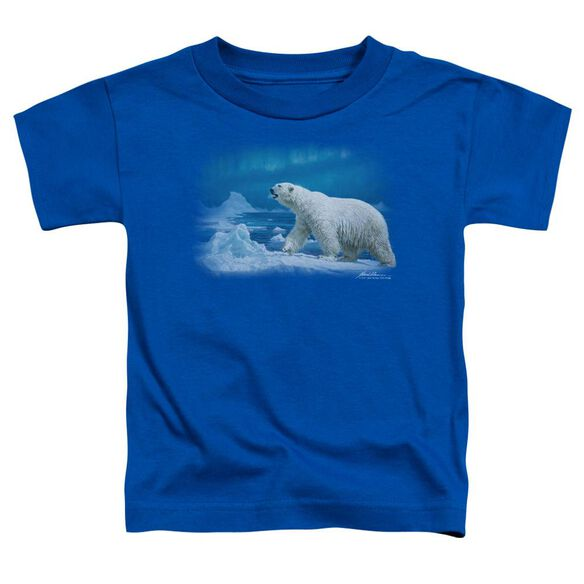Wildlife Nomad Of The North Short Sleeve Toddler Tee Royal Blue T-Shirt