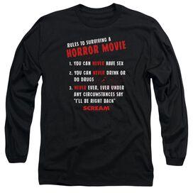 Scream Rules Long Sleeve Adult T-Shirt