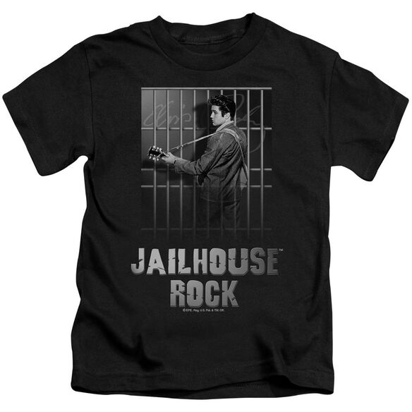 Elvis Jailhouse Rock Short Sleeve Juvenile Black T-Shirt
