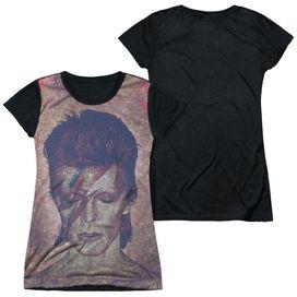David Bowie Glam Short Sleeve Junior Poly Black Back T-Shirt